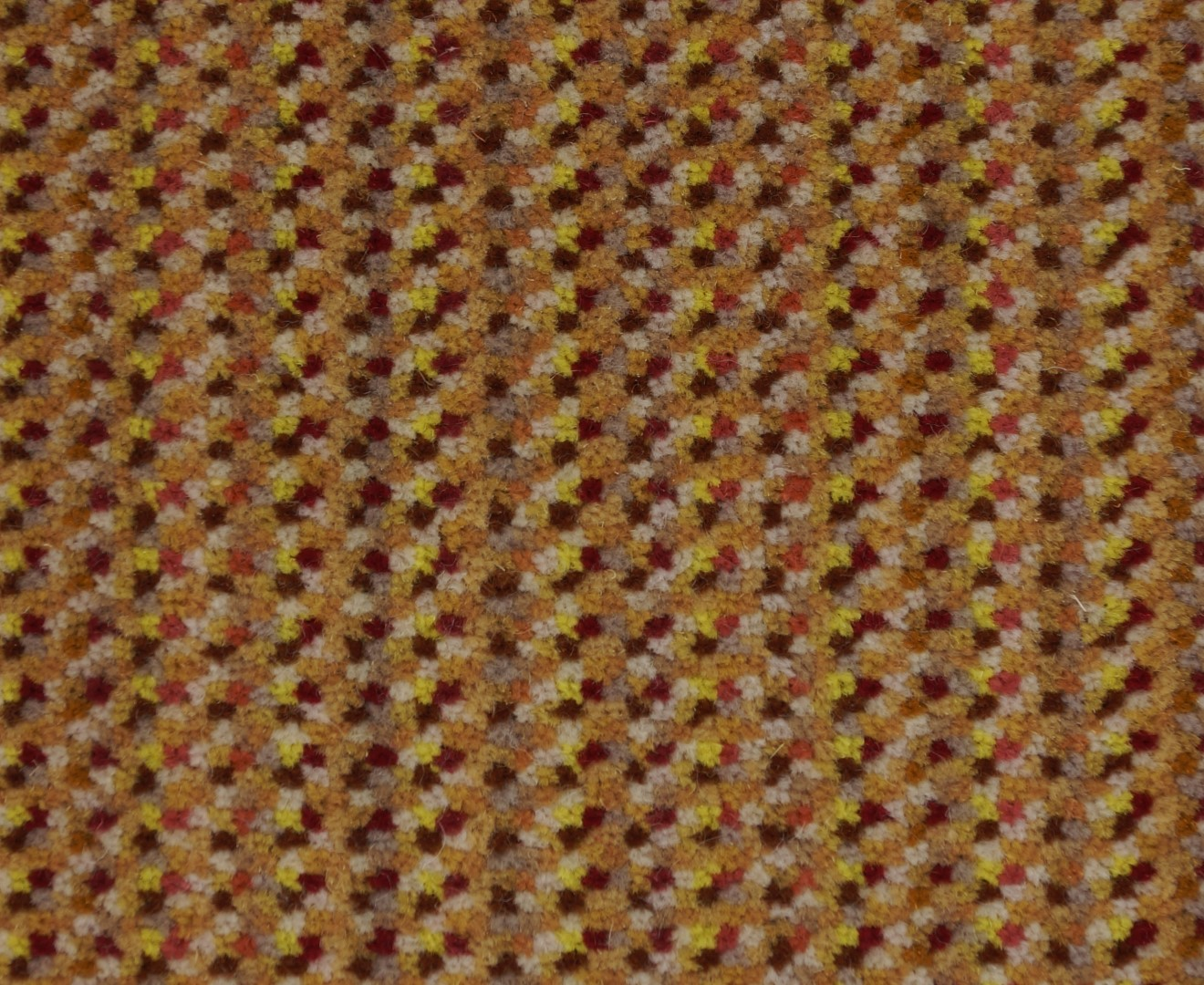 Moquette tiss e 100 laine unie structur e ray e milpoints coup terracota collection for Moquette rayee