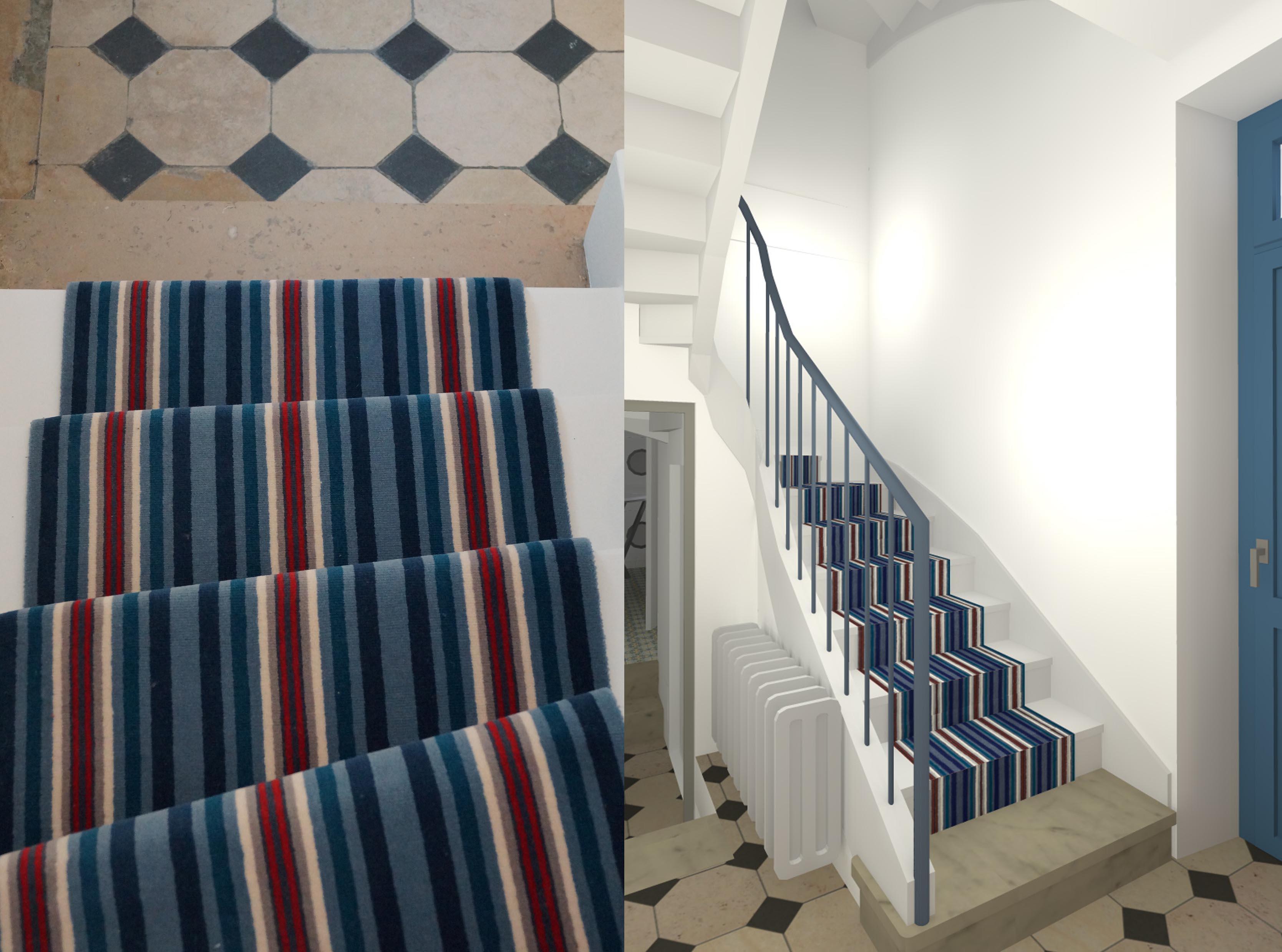 Tapis d 39 escalier - Tapis d escalier moderne ...